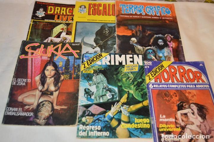 LOTE 6 COMIC VARIADOS TERROR Y CRIMEN - EDIT. VERTICE, URSUS Y ZINCO ¡MIRA! (Tebeos y Comics - Vértice - Terror)