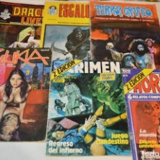 Cómics: LOTE 6 COMIC VARIADOS TERROR Y CRIMEN - EDIT. VERTICE, URSUS Y ZINCO ¡MIRA!. Lote 168502596