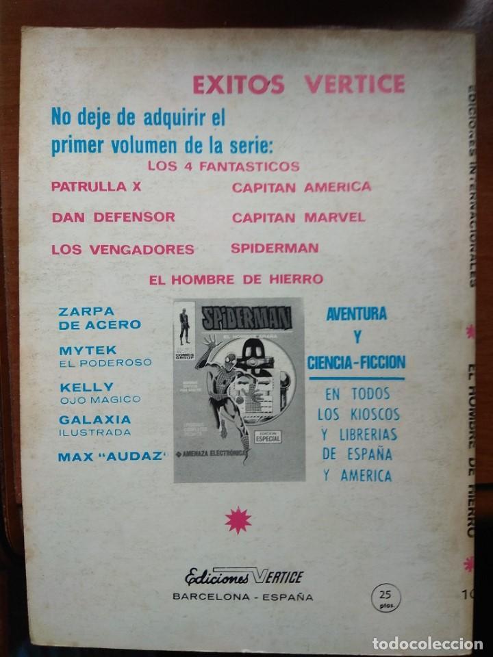 Cómics: EL HOMBRE DE HIERRO Nº 10 - Vértice taco - Con error de imprenta - Foto 2 - 168785436