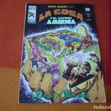 Cómics: SUPER HEROES PRESENTA VOL. 2 Nº 103 LA COSA Y EL CAPITAN AMERICA ¡BUEN ESTADO! VERTICE MUNDI-COMICS. Lote 169016740