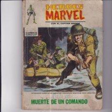 Cómics: MUERTE DE UN COMANDO. CON EL CAPITÁN SAVAGE. Lote 169119236