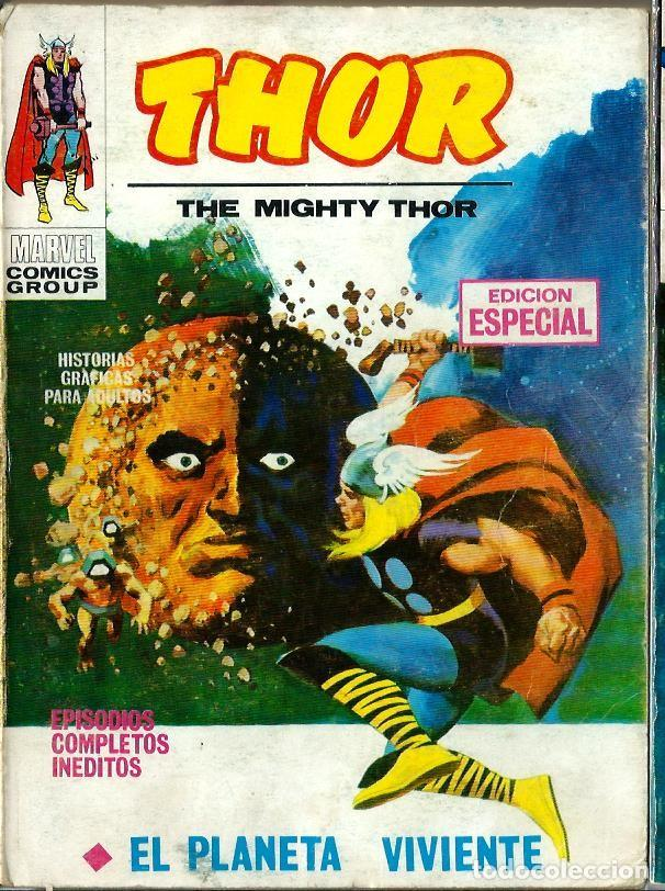 THOR Nº 4 - EL PLANETA VIVIENTE - VERTICE V.1 1970 - BASTANTE BIEN CONSERVADO (Tebeos y Comics - Vértice - V.1)