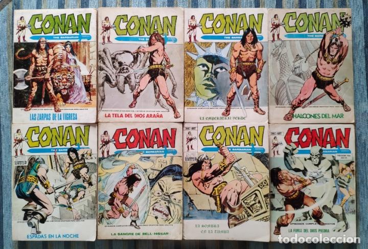 CONAN THE BARBARIAN VOL. 1 N° 3, 7, 8, 10, 12, 14, 16 Y 18 - LOPEZ ESPI (VERTICE 1972) (Tebeos y Comics - Vértice - Conan)