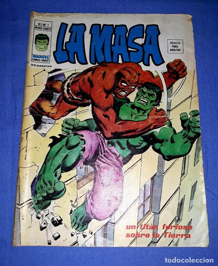 MUNDI-COMICS LA MASA VOL. 3 Nº 3 UN TITAN FURIOSO SOBRE LA TIERRA ED. VERTICE AÑO 1974 (Tebeos y Comics - Vértice - V.3)