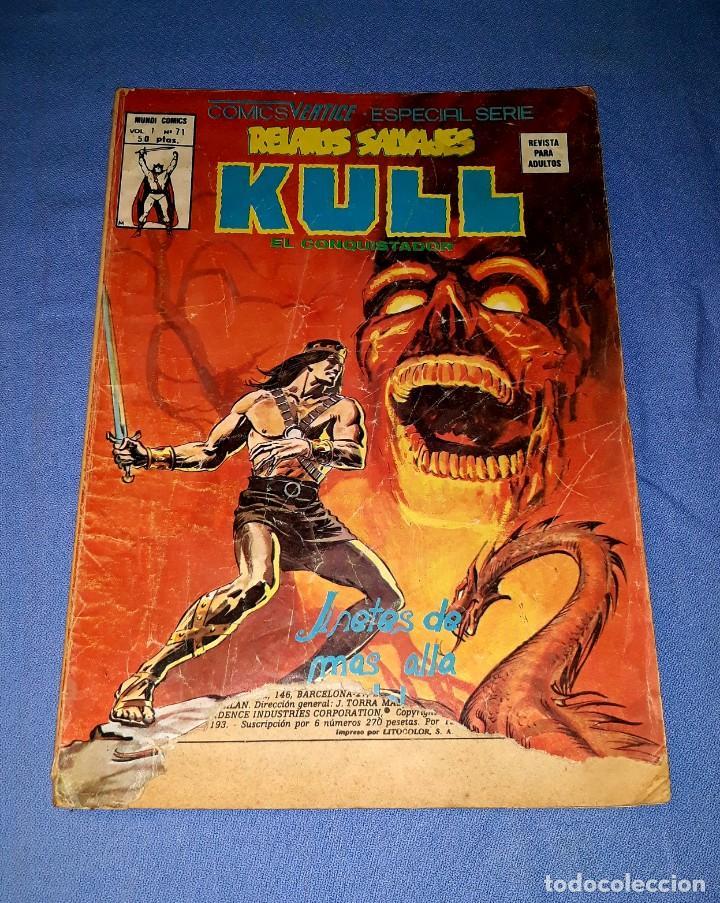 MUNDI-COMICS KULL Nº 71 ED. VERTICE ORIGINAL DESDE 1 EURO VER FOTO Y DESCRIPCION (Tebeos y Comics - Vértice - Relatos Salvajes)