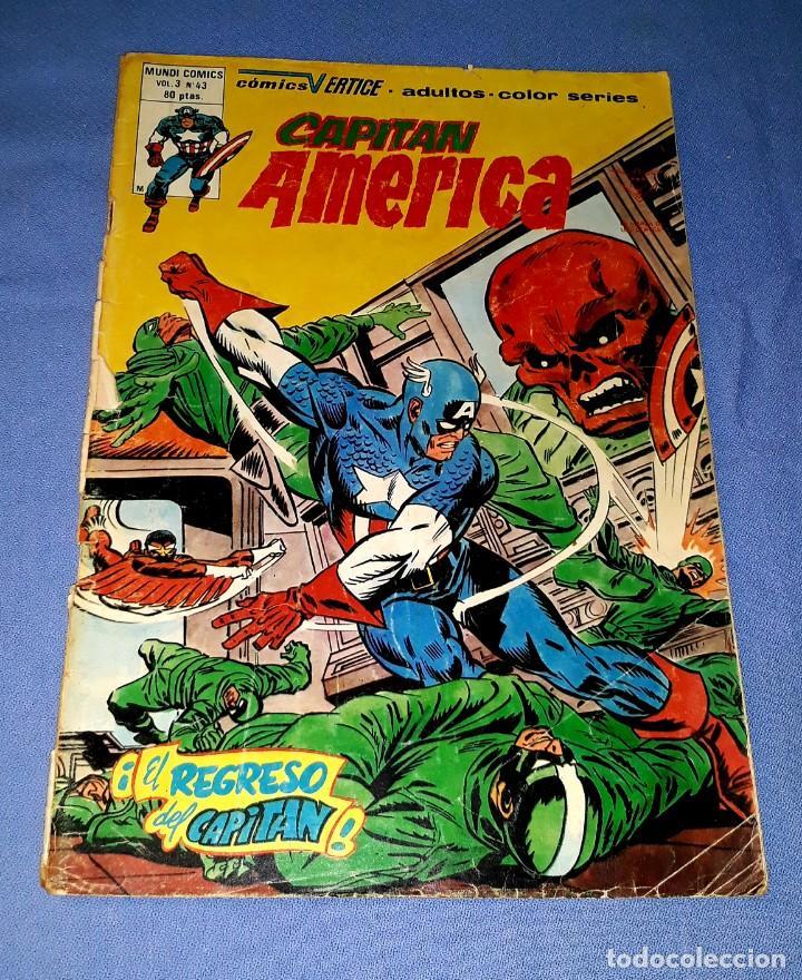 MUNDI-COMICS CAPITAN AMERICA Nº 43 ED. VERTICE ORIGINAL DESDE 1 EURO VER FOTO Y DESCRIPCION (Tebeos y Comics - Vértice - Capitán América)