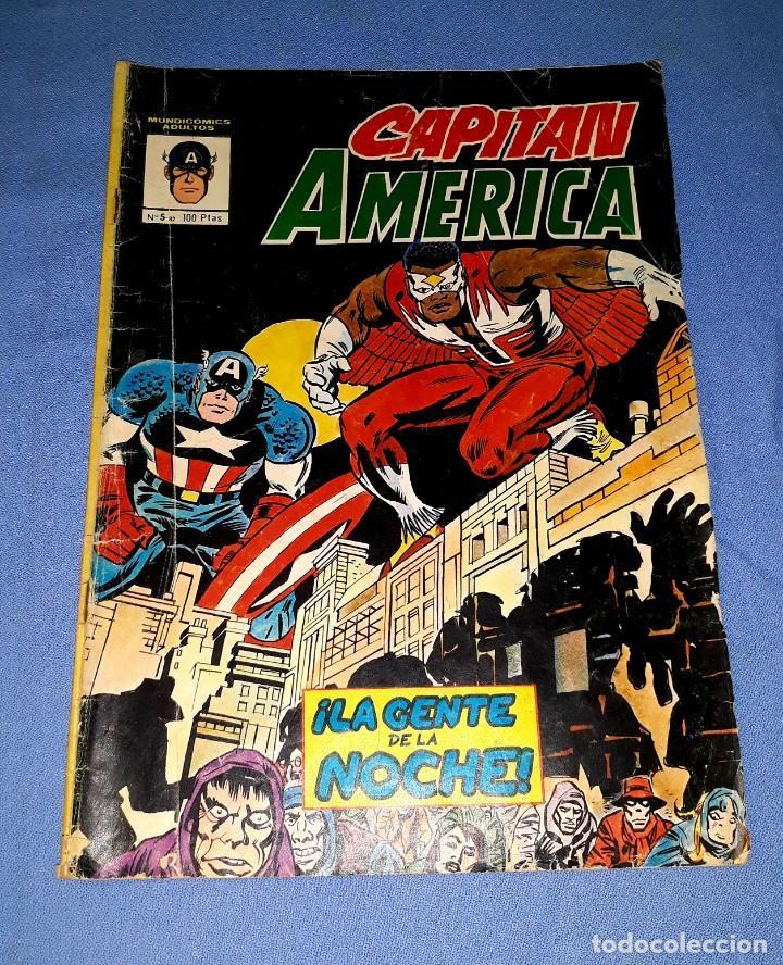 MUNDI-COMICS CAPITAN AMERICA Nº 5 ED. VERTICE ORIGINAL DESDE 1 EURO VER FOTO Y DESCRIPCION (Tebeos y Comics - Vértice - Capitán América)