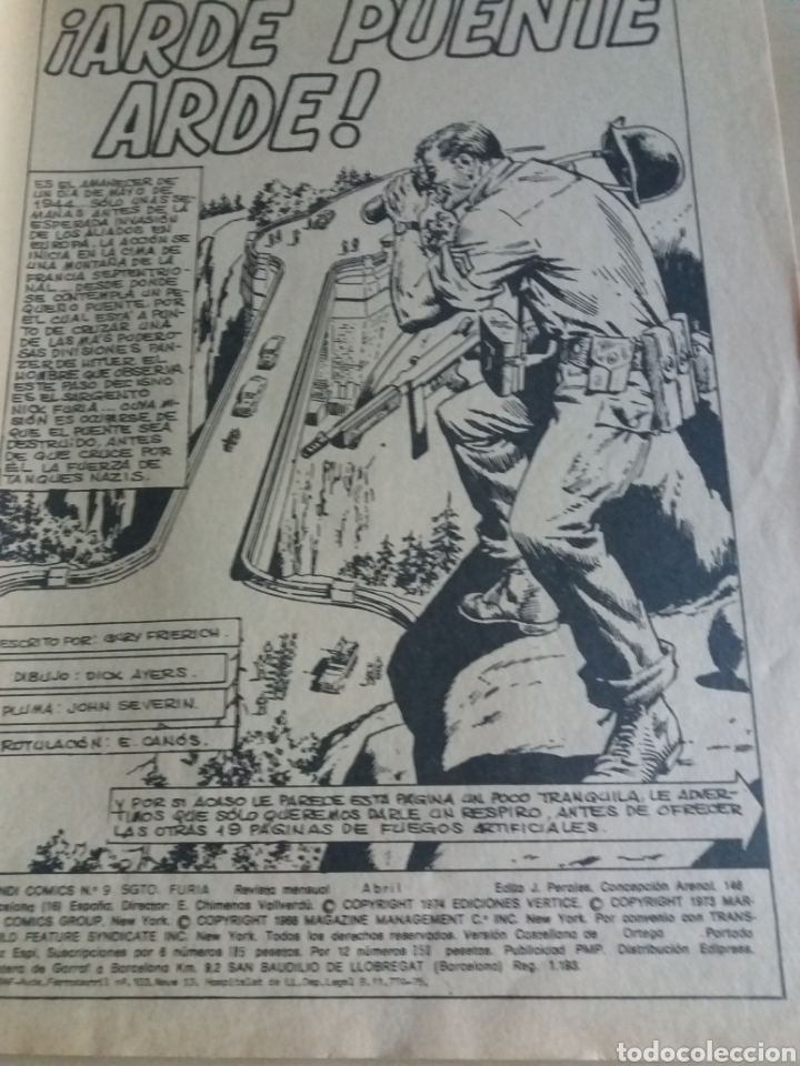 Cómics: Sargento furia v. 2 n°9 ediciones vertice - Foto 2 - 171806167