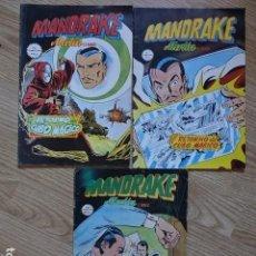 Cómics: LOTE 3 MANDRAKE MERLIN EL MAGO Nº 6 7 Y 10 COMICS ART RETORNO CUBO MÁGICO VERTICE HERMANOS AÑO 1980. Lote 172081514