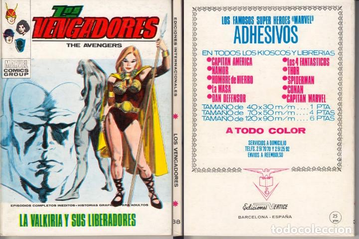 VERTICE LOS VENGADORES 38 (Tebeos y Comics - Vértice - Vengadores)