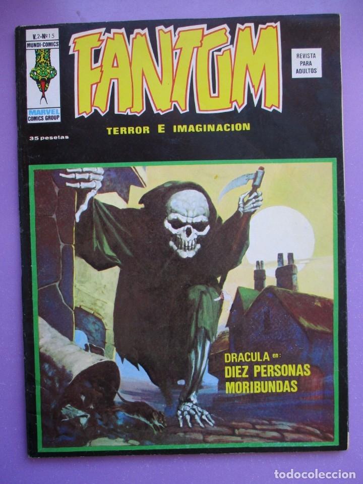 FANTOM Nº 15 VERTICE VOL. 2 ¡¡¡ BUEN ESTADO Y MUY DIFICIL !!!! (Tebeos y Comics - Vértice - V.1)
