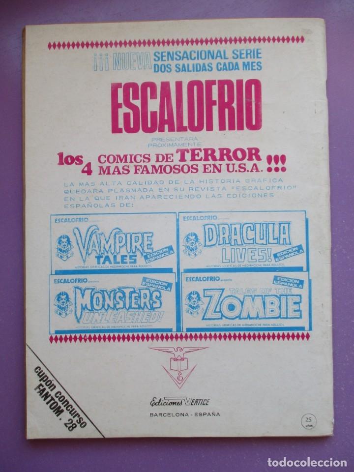 Cómics: FANTOM Nº 28 VERTICE VOL. 1 ¡¡¡ BUEN ESTADO !!!! - Foto 2 - 172587392