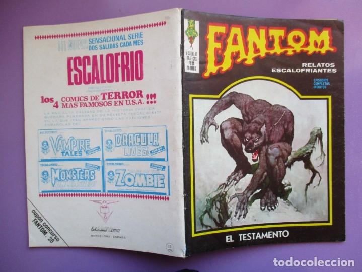 Cómics: FANTOM Nº 28 VERTICE VOL. 1 ¡¡¡ BUEN ESTADO !!!! - Foto 3 - 172587392