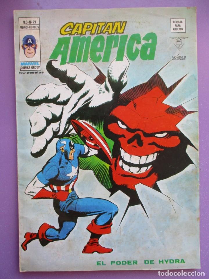 CAPITAN AMERICA Nº 21 VERTICE VOL. 3 ¡¡¡ BUEN ESTADO Y DIFICIL !!!! (Tebeos y Comics - Vértice - V.1)