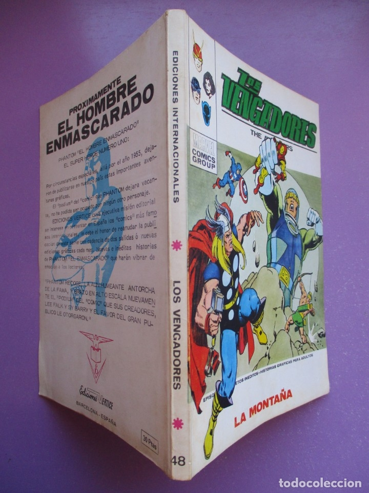 Cómics: LOS VENGADORES Nº 48 VERTICE TACO ¡¡¡ BASTANTE BUEN ESTADO!!!! - Foto 3 - 172630943