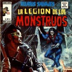 Cómics: RELATOS SALVAJES-45: LA LEGIÓN DE LOS MONSTRUOS (VERTICE, 1977) DE DOUG MOENCH, MARV WOLMAN Y OTROS. Lote 173481815