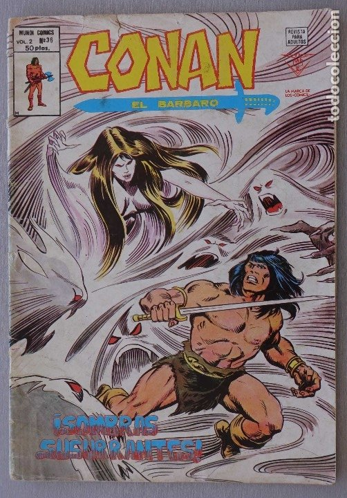VERTICE, CONAN EL BARBARO VOL 2 Nº 36 (Tebeos y Comics - Vértice - Conan)