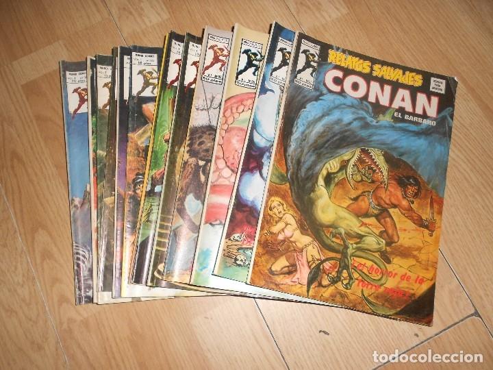 CONAN EL BARBARO / RELATOS SALVAJES VOL. 1 - LOTE 13 NUMEROS - VERTICE (Tebeos y Comics - Vértice - Conan)