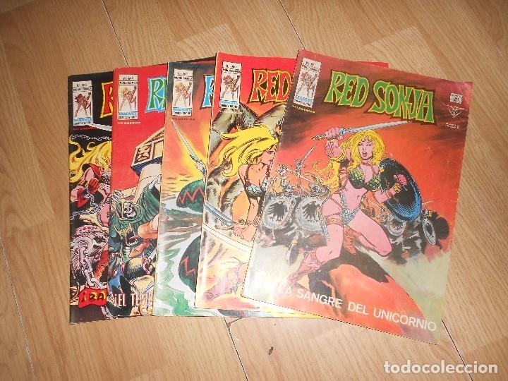 RED SONJA VOL. 1 - LOTE 5 NUMEROS - VERTICE (Tebeos y Comics - Vértice - V.1)