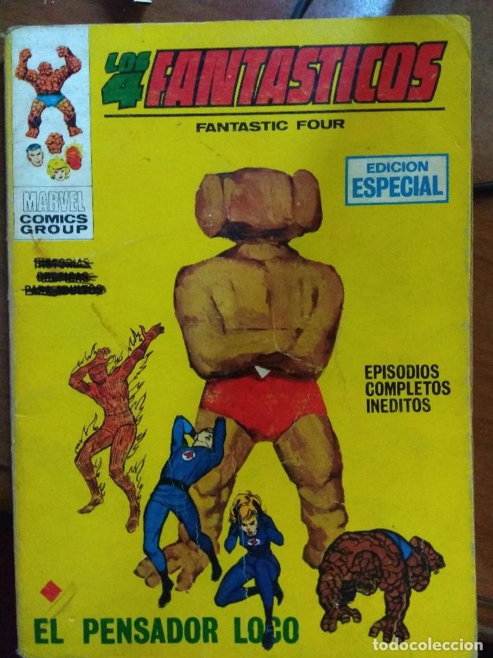 LOS 4 FANTASTICOS Nº 8 - VÉRTICE TACO - 126 PAGS FALTA GALERIA MARVEL (Tebeos y Comics - Vértice - 4 Fantásticos)