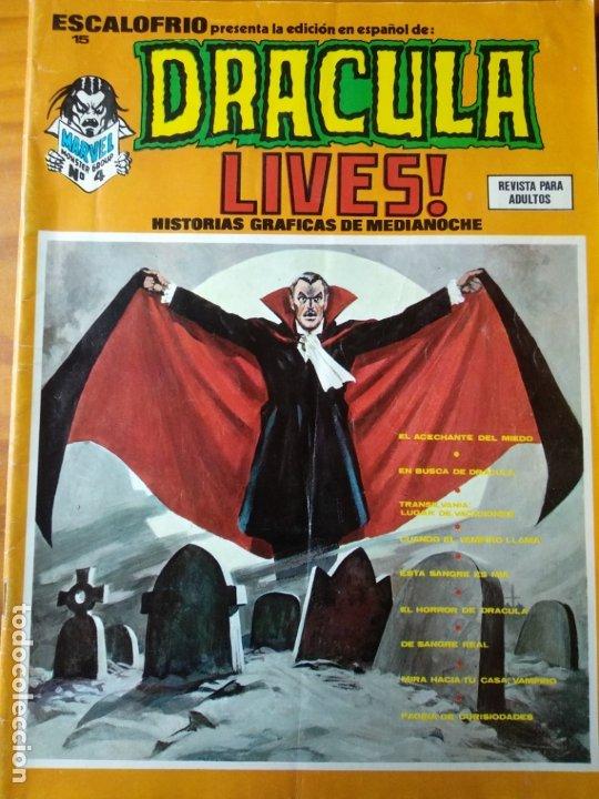 DRACULA LIVES! Nº 4 - ESCALOFRIO PRESENTA 15- VERTICE - (Tebeos y Comics - Vértice - Terror)