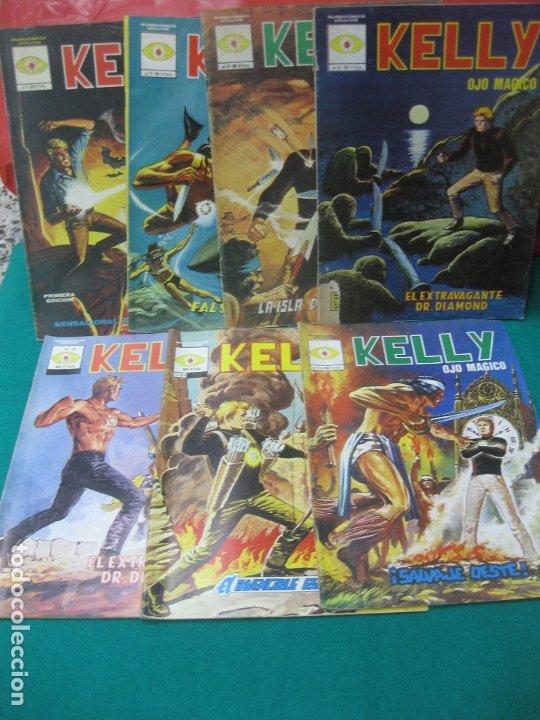 KELLY OJO MAGICO. PRIMERA EDICION DEL Nº 1 AL Nº 7. MUNDI COMICS 1981. VERTICE. (Tebeos y Comics - Vértice - Otros)