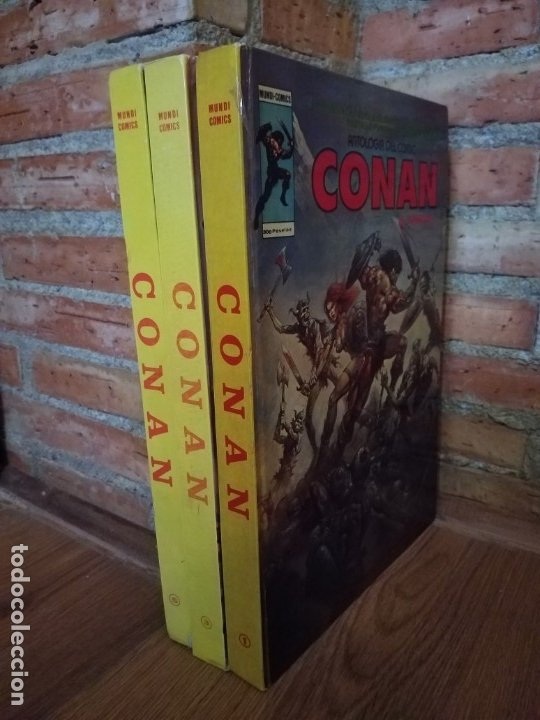 3 TOMOS ANTOLOGÍA DEL COMIC CONAN 1 , 3 Y 5 VERTICE BUEN ESTADO (Tebeos y Comics - Vértice - Conan)