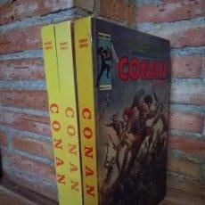 Cómics: 3 TOMOS ANTOLOGÍA DEL COMIC CONAN 1 , 3 Y 5 VERTICE BUEN ESTADO. Lote 174333622