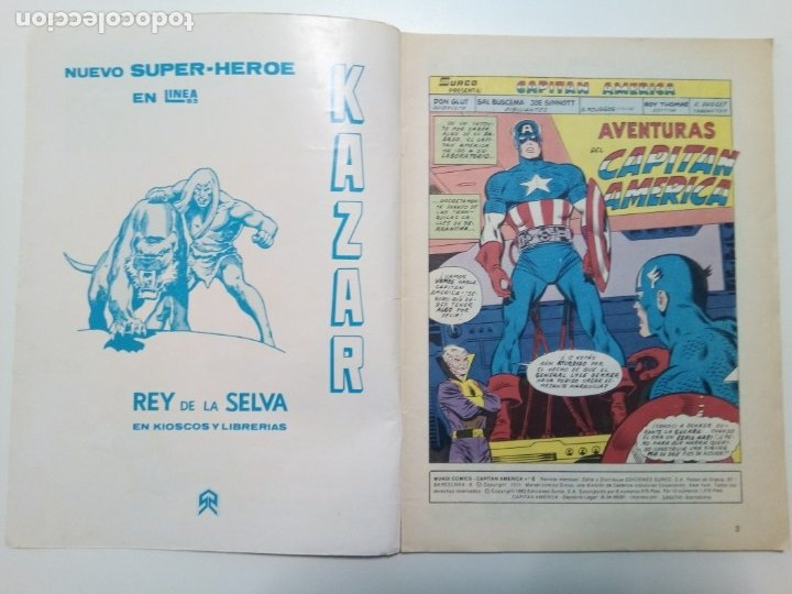 Cómics: Comic Capitán América, Las aventuras del Capitán América, nº4 - Foto 3 - 174456910