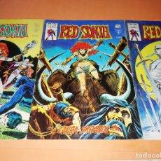 Cómics: RED SONJA. VOLUMEN 1 . NUMEROS 9,10 Y 11. VERTICE. GRAPA. NO SUELTOS. 1978. Lote 174593602