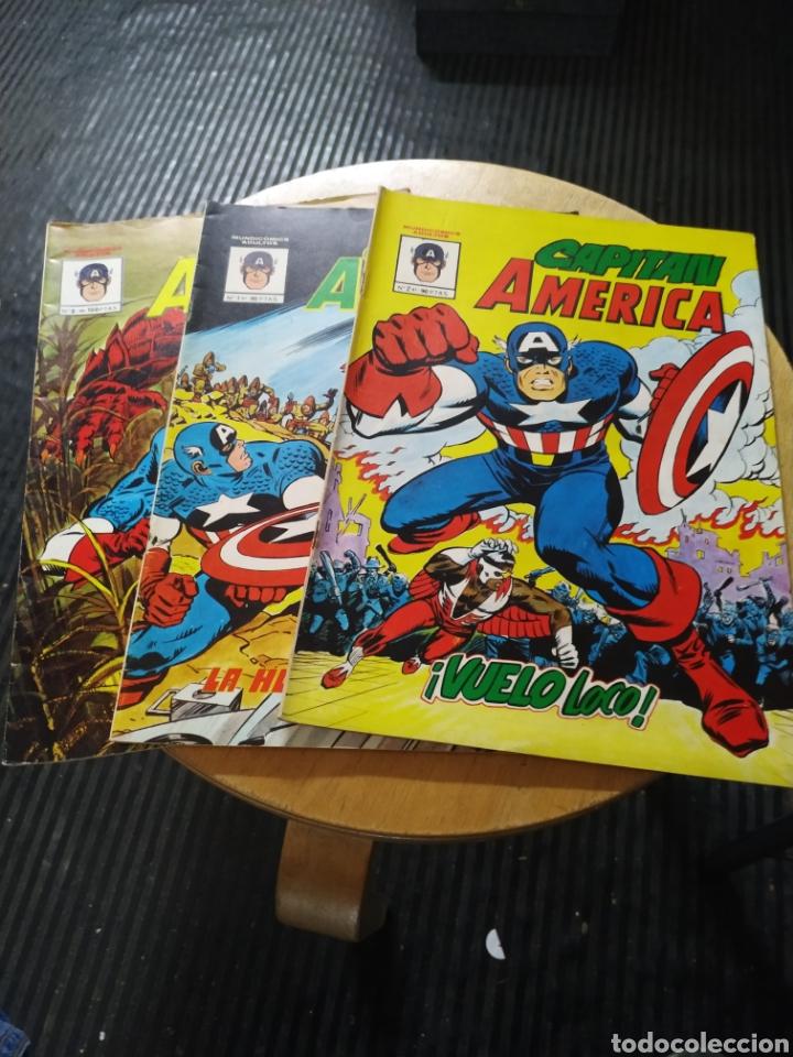 CAPITAN AMÉRICA LOTE 3 N° 1-2-8 (VÉRTICE) (Tebeos y Comics - Vértice - Capitán América)