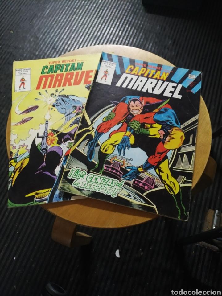 CAPITAN MARVEL, SÚPER HÉROES PRESENTA VOL 1 LOTE DE 2 N° 132-133 (Tebeos y Comics - Vértice - Super Héroes)