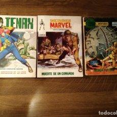 Cómics: LOTE 3 COMICS VERTICE AÑOS 70. TENAX 17, SELECCIONES VERTICE 54 Y HEROES MARVEL 12 .. Lote 174982787