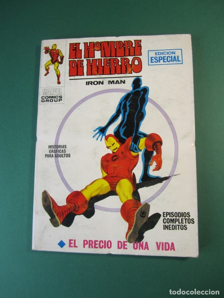 IRON MAN (1969, VERTICE) -EL HOMBRE DE HIERRO- 8 · 1969 · EL PRECIO DE UNA VIDA (Tebeos y Comics - Vértice - Hombre de Hierro)