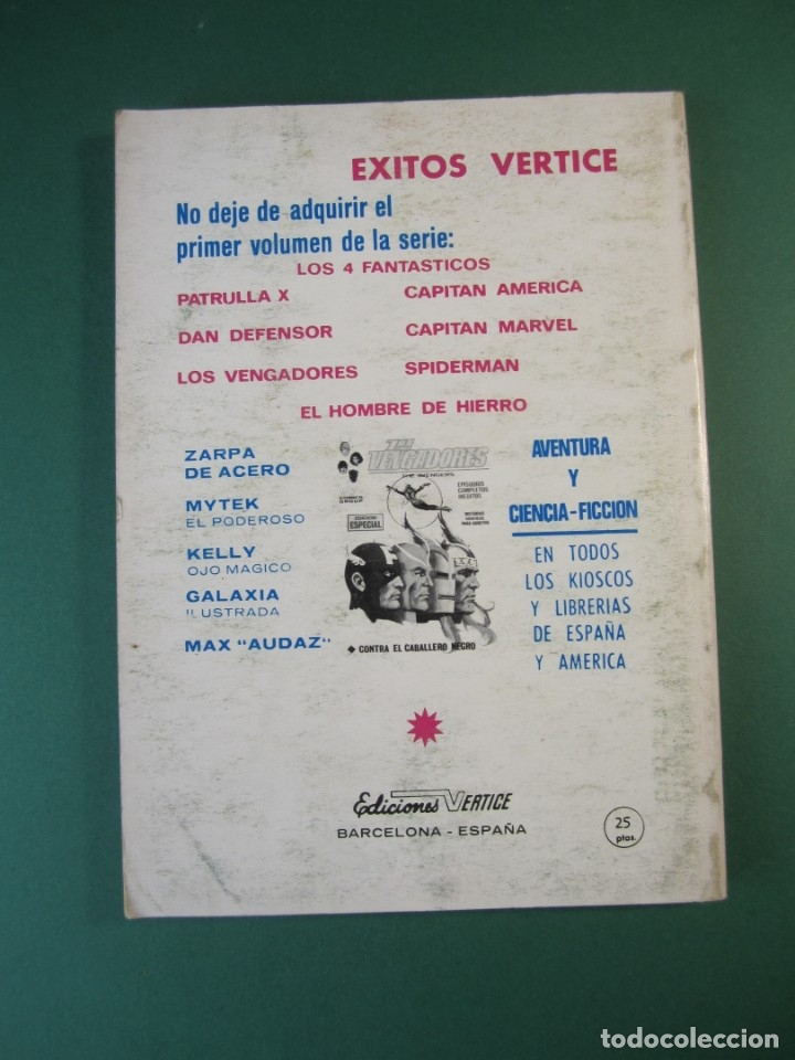 Cómics: IRON MAN (1969, VERTICE) -EL HOMBRE DE HIERRO- 8 · 1969 · EL PRECIO DE UNA VIDA - Foto 2 - 175017689