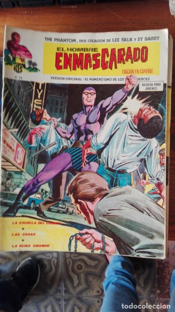 EL HOMBRE ENMASCARADO Nº 14 COMICS ART VÉRTICE 1974 LA ESCUELA DEL CRIMEN (Tebeos y Comics - Vértice - Hombre Enmascarado)