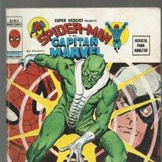 Cómics: SUPER HÉROES VOL. 2 NÚMERO 11: SPIDER-MAN Y EL CAPITÁN MARVEL, 1974, VERTICE, BUEN ESTADO. Lote 176294498