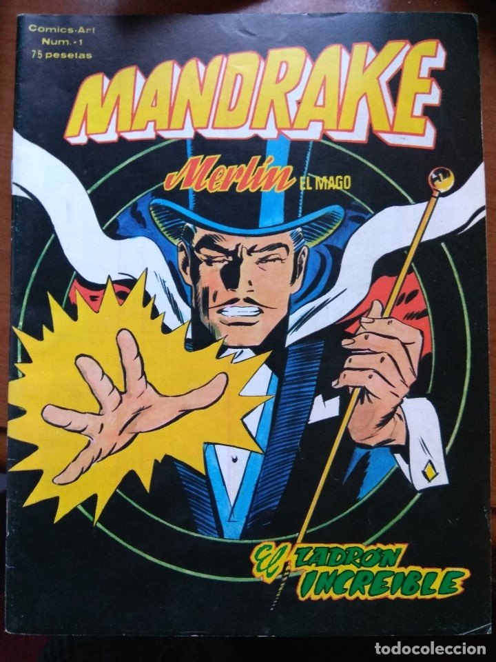 MANDRAKE NUM. 1 COMICS ART - VÉRTICE (Tebeos y Comics - Vértice - Otros)
