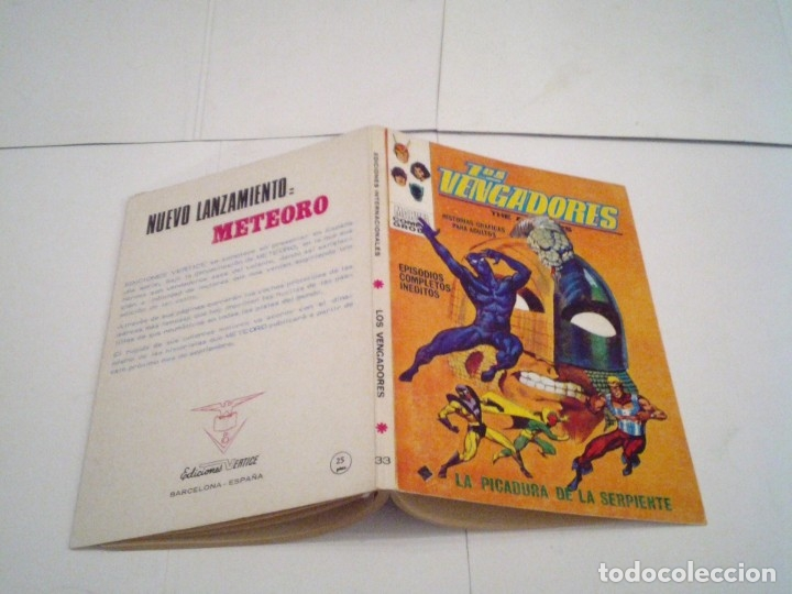 Cómics: LOS VENGADORES - VERTICE - VOLUMEN 1 - COLECCION COMPLETA - 52 NUMEROS - MUY BUEN ESTADO - GORBAUD - Foto 187 - 176450777