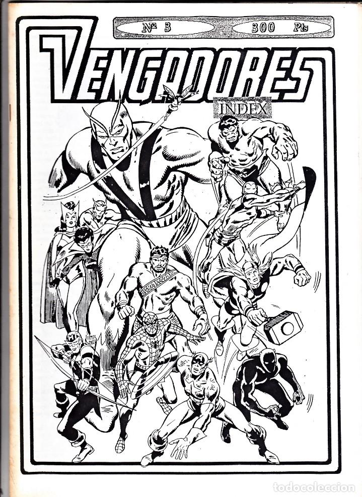 VENGADORES INDEX Nº 3 (Tebeos y Comics - Vértice - Vengadores)