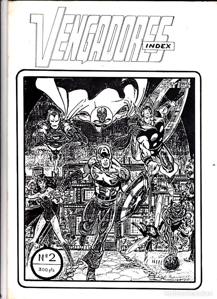 VENGADORES INDEX Nº 2 (Tebeos y Comics - Vértice - Vengadores)
