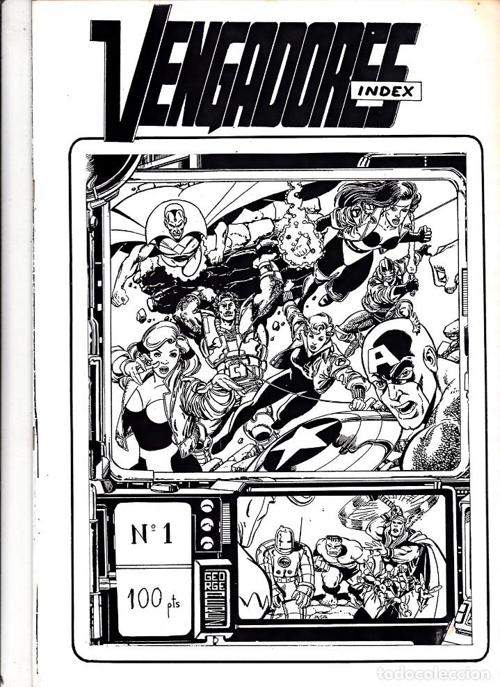 VENGADORES INDEX Nº 1 (Tebeos y Comics - Vértice - Vengadores)