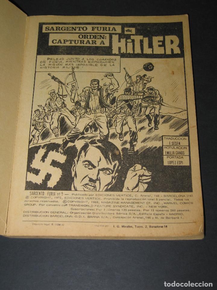 Cómics: SARGENTO FURIA (Sgt. Nick Fury)- núm. 5 MISIÓN CAPTURAR A HITLER - Marvel Comics - 1972 - Ed.Vértice - Foto 2 - 176682782