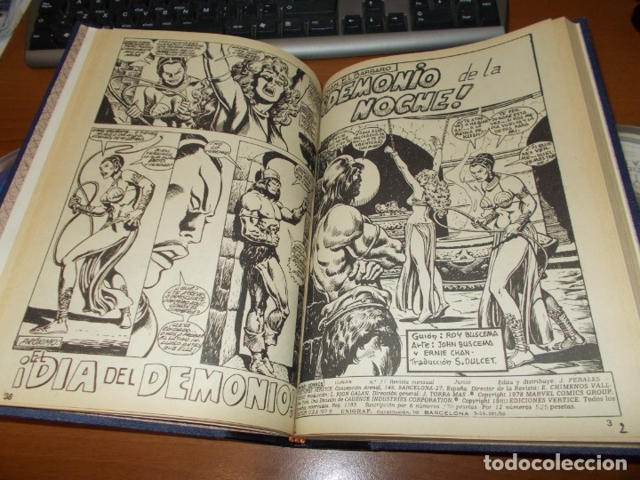 Cómics: CONAN - TOMO ENCUADERNADO NÚMEROS 36 AL 40 (VERTICE) - Foto 5 - 176843049