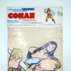 Cómics: SUPERHÉROES EN ACCIÓN CON POSTER MOVIL. CONAN. MARVEL COMICS VÉRTICE, 1980. OFRT. Lote 206844803