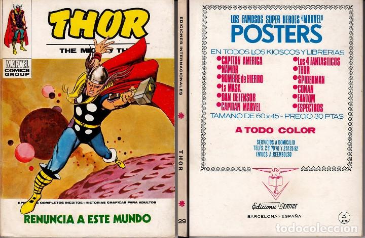 VERTICE V1 THOR 29 (Tebeos y Comics - Vértice - Thor)