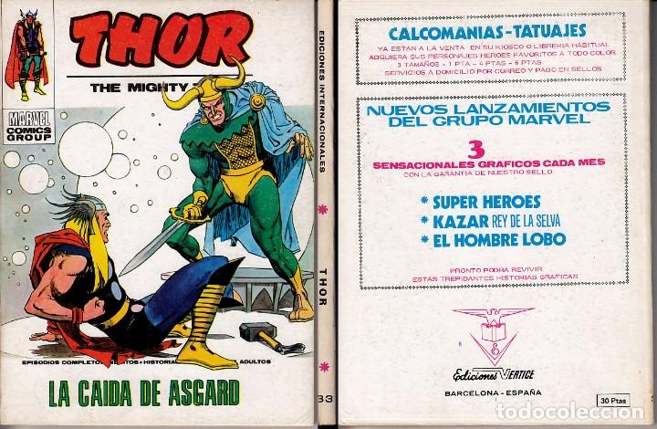 VERTICE V1 THOR 33 (Tebeos y Comics - Vértice - Thor)