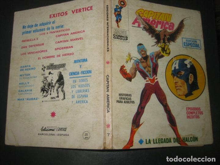 CAPITAN AMERICA Nº 7. TACO. EDICIONES VERTICE 1970. (Tebeos y Comics - Vértice - Capitán América)