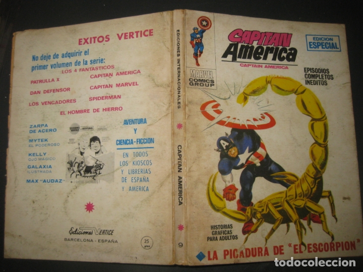 CAPITAN AMERICA Nº 9. TACO. EDICIONES VERTICE 1970. (Tebeos y Comics - Vértice - Capitán América)
