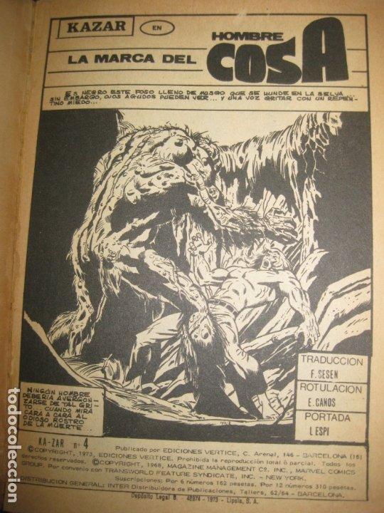Cómics: KA-ZAR. EL REY DE LA JUNGLA. Nº 4. TACO. EDICIONES VERTICE 1973 . 128 PAGINAS - Foto 2 - 177187835